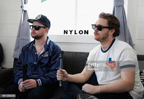 Musicians Ben Thatcher and Mike Kerr of Royal Blood attend the Samsung Artist House at Austin City Limits Music Festival 2015 on October 2 2015 in...