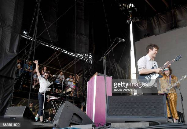 Musicians Benjamin Goldwasser and Andrew VanWyngarden of MGMT perform at the Hangout Stage during 2017 Hangout Music Festival on May 19 2017 in Gulf...