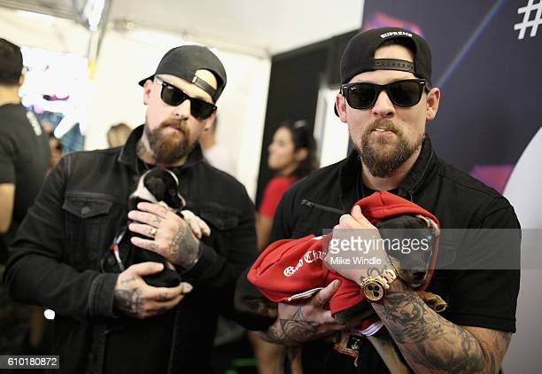 Musicians Benji Madden and Joel Madden of Good Charlotte attend the 2016 Daytime Village at the iHeartRadio Music Festival at the Las Vegas Village...