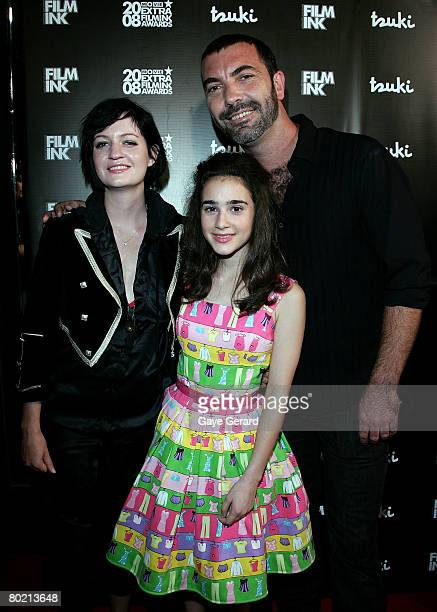 Musicians Bertie Blackman Paul Mac and Actress Danielle Catanzariti arrive at the 2008 Movie Extra FilmInk Awards at the State Theatre on March 12...