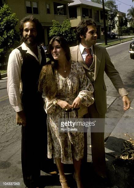 Musicians Bill Hudson and Brett Hudson attend Debby BooneGabriel Ferrer Wedding Ceremony on September 1 1979 at the Hollywood Presbyterian Church in...