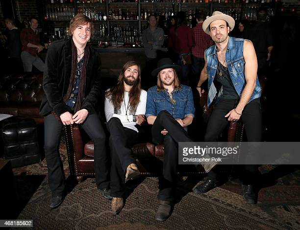 Musicians Bill Satcher Graham DeLoach Michael Hobby and Zach Brown of the band A Thousand Horses attend at A Thousand Horses presented by...