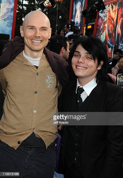 Musicians Billy Corgan of Smashing Pumpkins and Gerard Way of My Chemical Romance arrive at SPIKE TV's Scream 2008 Awards held at the Greek Theatre...
