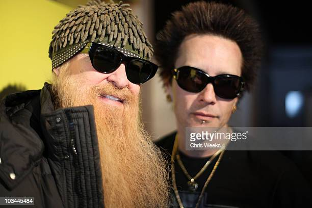 Musicians Billy Gibbons of ZZ Top and Billy Morrison visit the Village at The Yard on January 19, 2009 in Park City, Utah.
