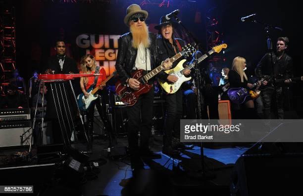 Musicians Billy Gibbons Richie Sambora Robert Randolph and Joe Don Rooney perform America Salutes You and Wall Street Rocks Presents Guitar Legends...