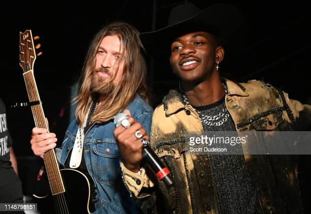 Musicians Billy Ray Cyrus and Lil Nas X attend Day 3 of the Stagecoach Music Festival on April 28 2019 in Indio California