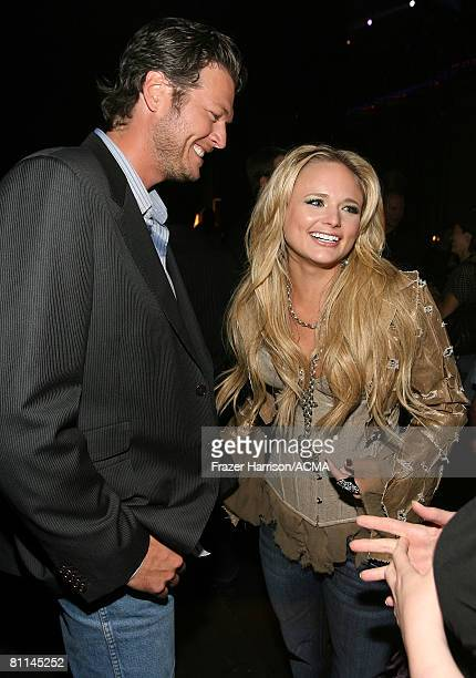 ACCESS*** Musicians Blake Shelton and Miranda Lambert backstage at the 43rd annual Academy Of Country Music Awards held at the MGM Grand Garden Arena...