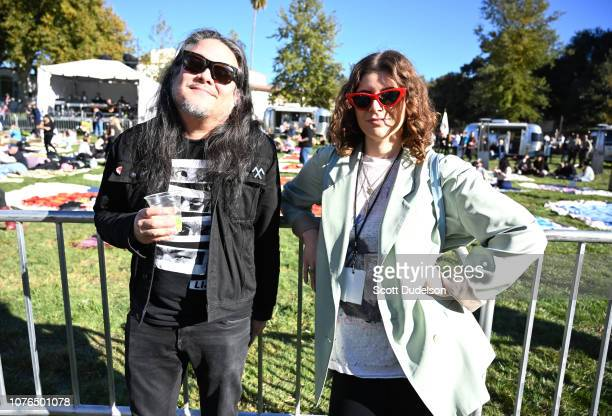 Musicians Bobb Bruno and Bethany Cosentino of the band Best Coast attend the One Love Malibu Festival at King Gillette Ranch on December 02 2018 in...