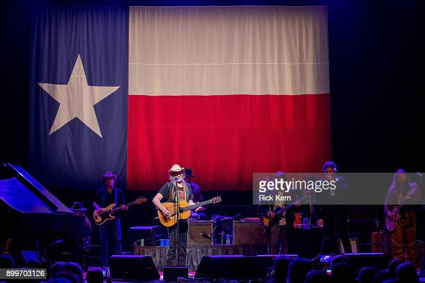 Musicians Bobbie Nelson Willie Nelson Lukas Nelson Mickey Raphael and Jamey Johnson perform in concert at ACL Live on December 29 2017 in Austin Texas