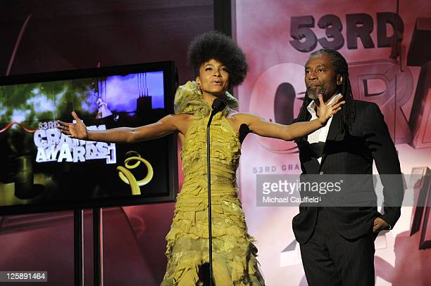 Musicians Bobby McFerrin and Esperanza Spalding onstage during The 53rd Annual GRAMMY Awards PreTelecast held at the Los Angeles Convention Center on...
