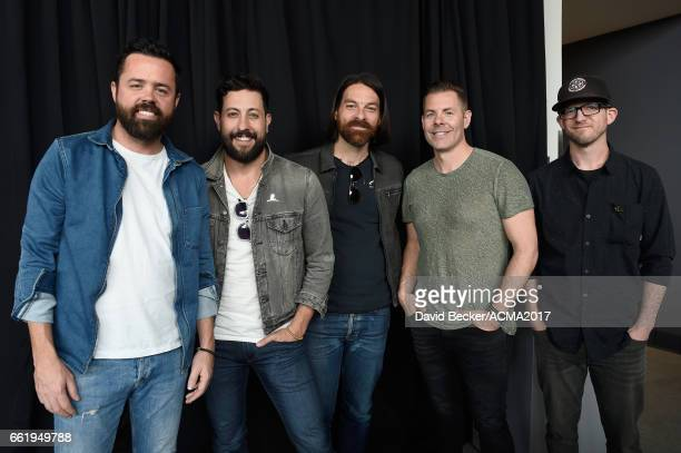 Musicians Brad Tursi Matthew Ramsey Geoff Sprung Trevor Rosen and Whit Sellers of Old Dominion attend the 52nd Academy Of Country Music Awards...