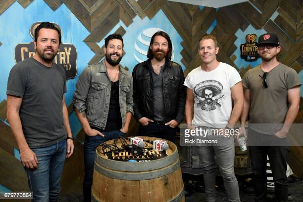 Musicians Brad Tursi Matthew Ramsey Geoff Sprung Trevor Rosen and Whit Sellers of Old Dominion attend the 2017 Daytime Village at the iHeartCountry...