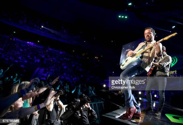 Musicians Brad Tursi of Old Dominion performs onstage during the 2017 iHeartCountry Festival A Music Experience by ATT at The Frank Erwin Center on...
