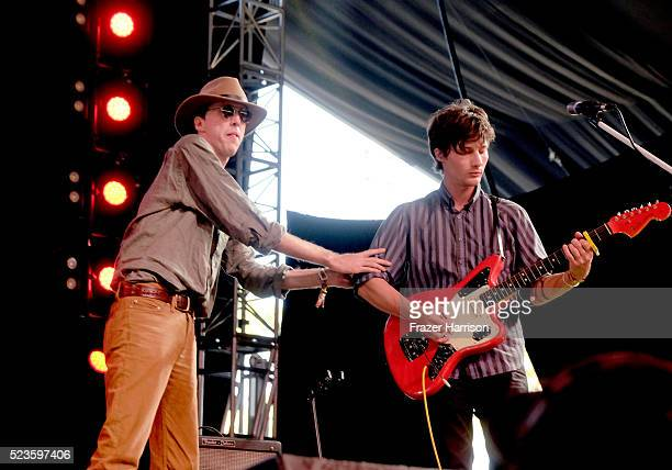 Musicians Bradford Cox and Lockett Pundt of Deerhunter perform onstage during day 2 of the 2016 Coachella Valley Music & Arts Festival Weekend 2 at...