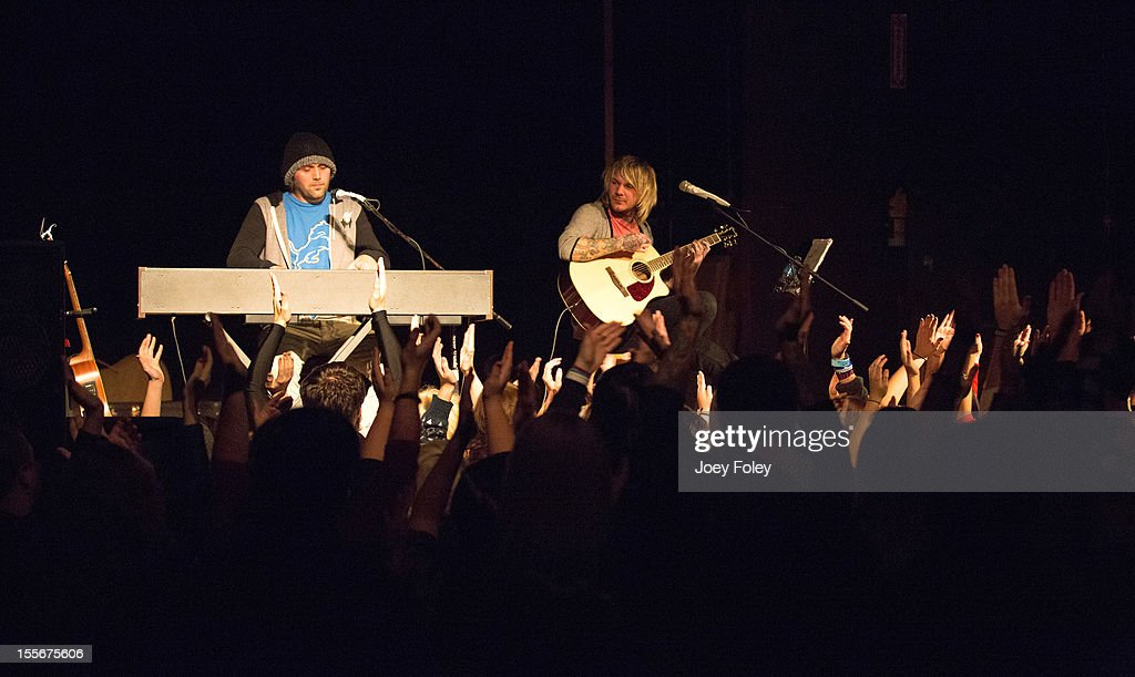 Musicians Bradley Bell and Craig Owens performs at The Irving Theater on November 4, 2012 in Indianapolis, Indiana.