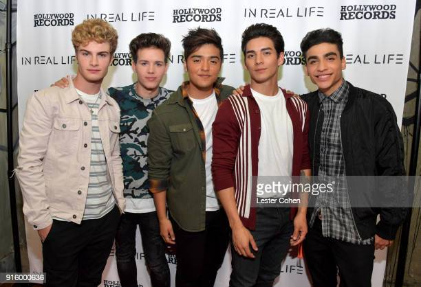 Musicians Brady Tutton Michael Conor Sergio Calderon Chance Perez and Drew Ramos of In Real Life on February 7 2018 in Los Angeles California