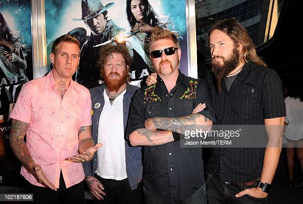 Musicians Brann Dailor Brent Hinds Bill Kelliher and Troy Sanders of Mastodon arrives at premiere of Warner Bros 'Jonah Hex' held at ArcLight...