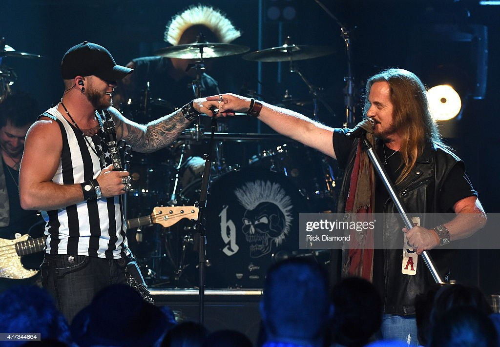"Lynyrd Skynyrd And Brantley Gilbert Perform For An Upcoming Episode Of ""CMT Crossroads"" Premiering June 27 On CMT : News Photo"