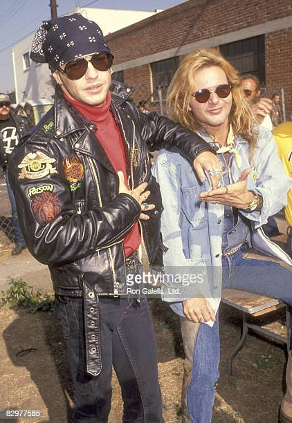 Musicians Brett Michaels and Rikki Rockett attend the Love Ride 8 Eighth Annual Motocycle Rider's Fundraiser for the Muscular Dystrophy Association...