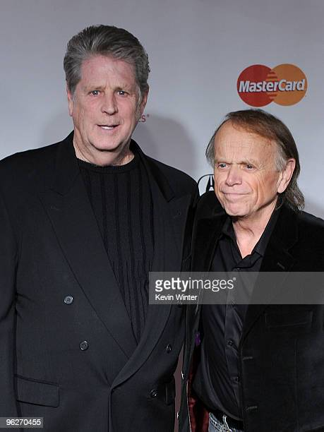 Musicians Brian Wilson and Al Jardine, formerly of The Beach Boys, arrive at the 2010 MusiCares Person Of The Year Tribute To Neil Young at the Los...