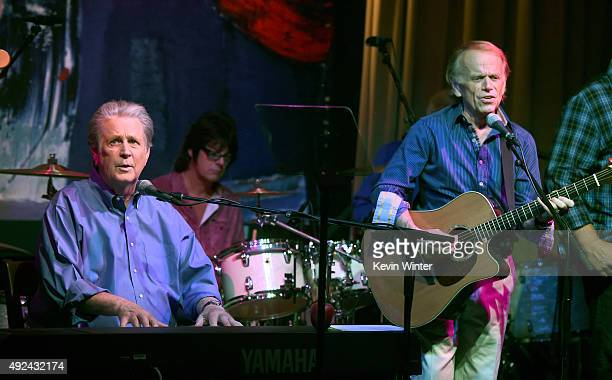 Musicians Brian Wilson and Al Jardine perform at Roadside Attraction's Love and Mercy DVD release and music celebration with Brian Wilson at the...