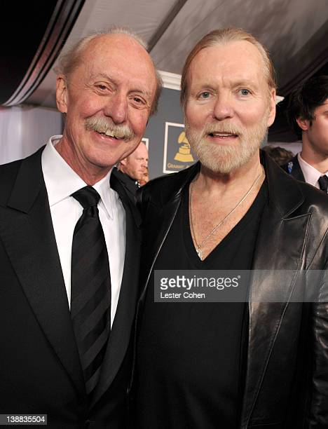 Musicians Butch Trucks and Gregg Allman of The Allman Brothers arrive at The 54th Annual GRAMMY Awards at Staples Center on February 12 2012 in Los...