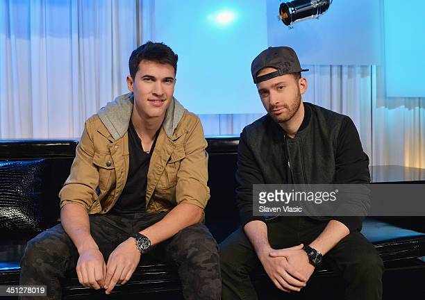 Musicians Cal Shapiro and Rob Resnick of Timeflies visit You A Music Choice on November 21 2013 in New York City