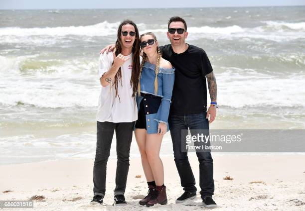 Musicians Cameron Lockwood Fletcher and Chris McKeon of the band Fletcher pose for a portrait during the 2017 Hangout Music Festival on May 20 2017...