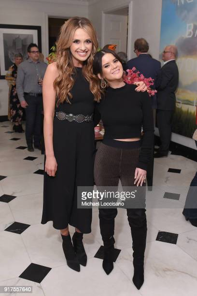 Musicians Carly Pearce and Maren Morris attend the Country Music Hall Of Fame And Museum Reception With Carly Pearce For All For The Hall New York on...
