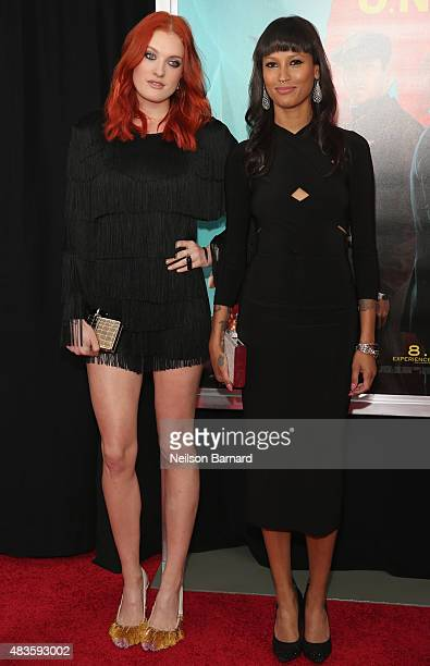 Musicians Caroline Hjelt and Aino Jawo of Icona Pop attend the New York premiere of The Man From UNCLE at Ziegfeld Theater on August 10 2015 in New...