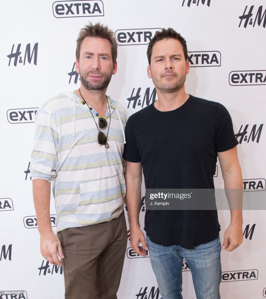 Nickelback visits musicians chad kroeger and ryan peake of the band nickelback visit extra studios at hm times m4hsunfo