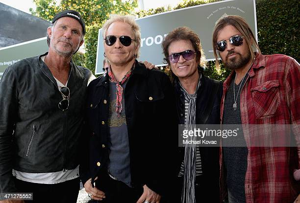 Musicians Chad Smith of Red Hot Chili Peppers Matt Sorum Glenn Hughes and Billy Ray Cyrus attend Chrysler John Varvatos 12th Annual Stuart House...