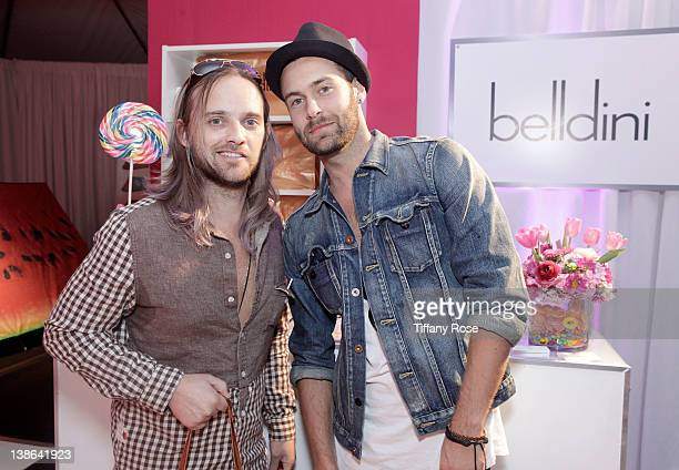 Musicians Chad Wolf and Rickard Goransson of Carolina Liar attend GRAMMY Gift Lounge during The 54th Annual GRAMMY Awards at Staples Center on...