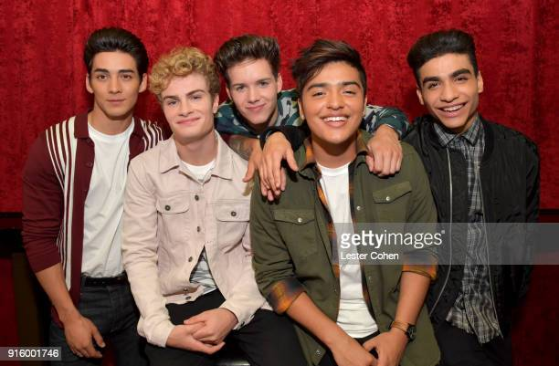 Musicians Chance Perez Brady Tutton Michael Conor Sergio Calderon and Drew Ramos of In Real Life on February 7 2018 in Los Angeles California