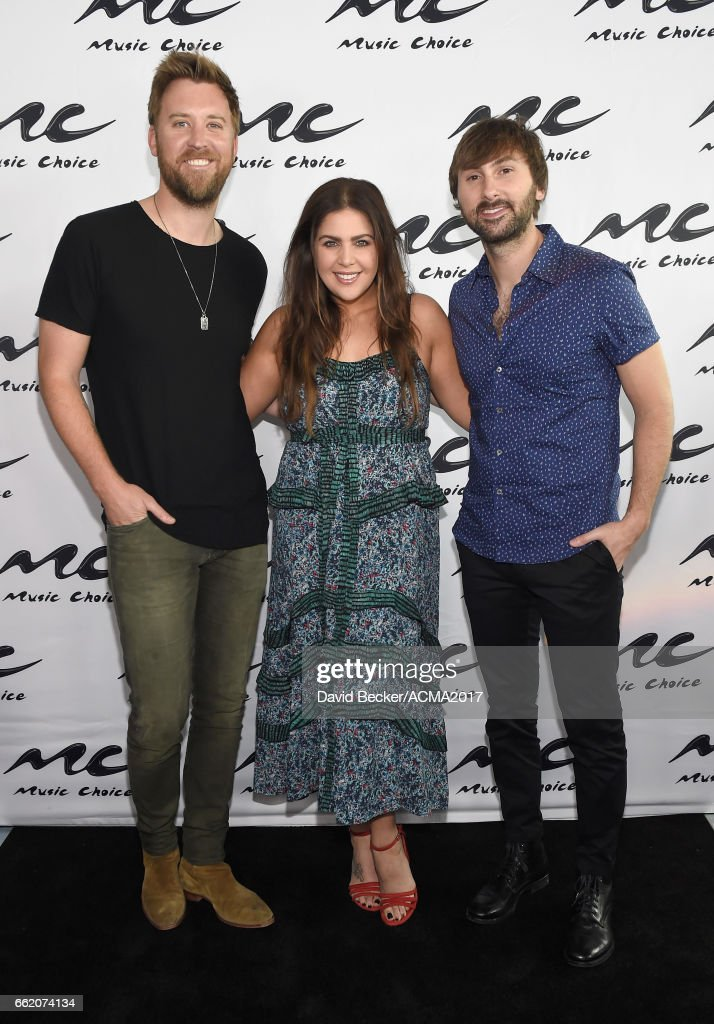 Musicians Charles Kelley, Hillary Scott, and Dave Haywood of Lady Antebellum attend the 52nd Academy Of Country Music Awards Cumulus/Westwood One Radio Remotes at T-Mobile Arena on March 31, 2017 in Las Vegas, Nevada.