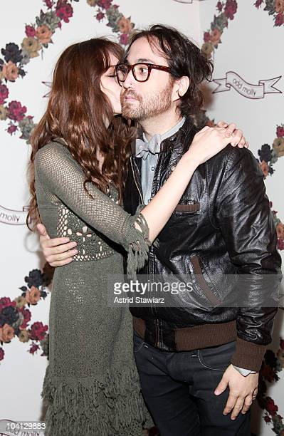 Musicians Charlotte Kemp Muhl and Sean Lennon attend the Odd Molly Spring 2011 fashion show during Mercedes-Benz Fashion Week at The Studio at...