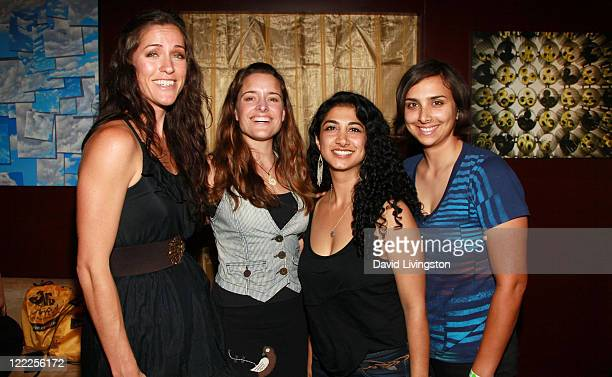 Musicians Chaska Potter, Mai Bloomfield, Mona Tavakoli and Becky Gebhardt attend the 2010 Los Angeles Film Festival at ZonePerfect live.create.lounge...