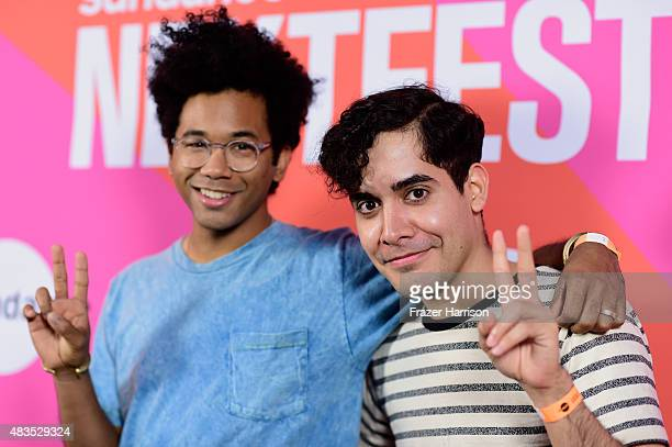 Musicians Chaz Bundick and Alan Palomo attend Turbo Kid during the Sundance NEXT FEST at The Theatre at Ace Hotel on August 9 2015 in Los Angeles...