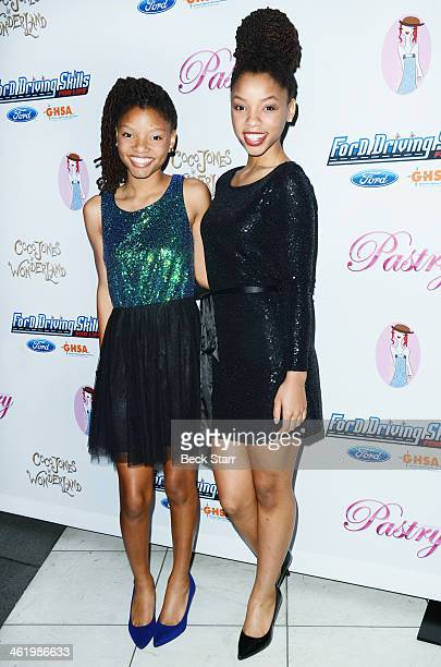 Musicians Chloe and Halle arrive at Pastry Shoes presents Coco Jones' Sweet Sixteen Birthday Party at SLS Hotel on January 11, 2014 in Beverly Hills,...