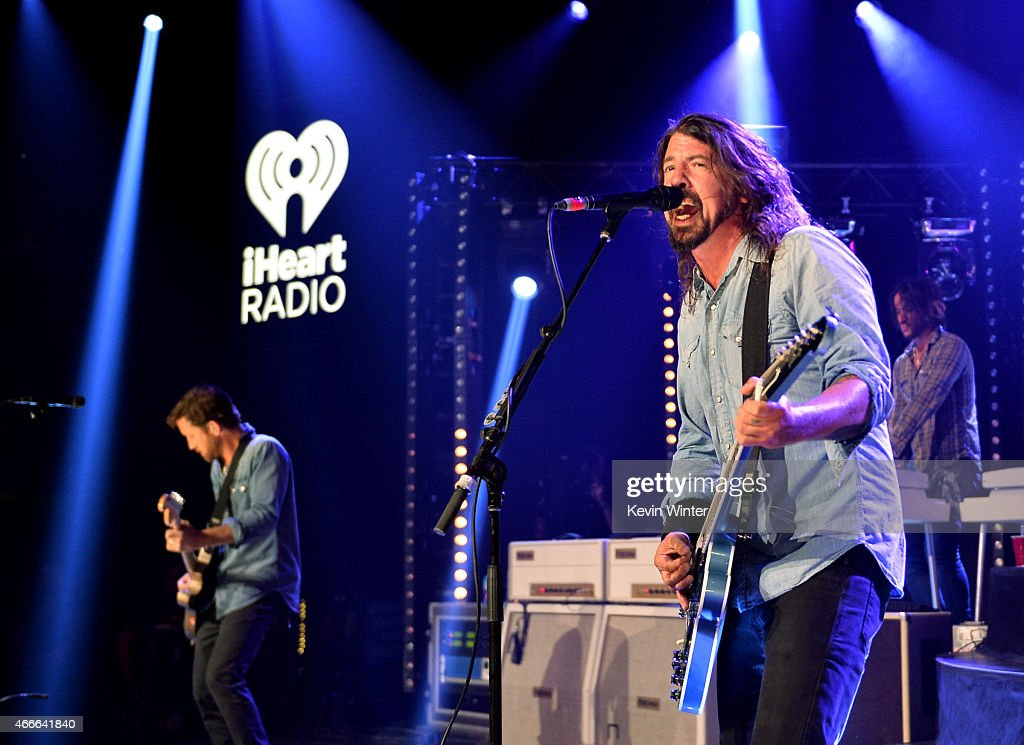 Foo Fighters On The Honda Stage At The iHeartRadio Theater Los Angeles Hosted By Chelsea Handler : News Photo