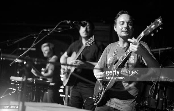 Musicians Chris Taylor Ed Droste and Daniel Rossen of Grizzly Bear perform at Zebulon on September 24 2017 in Los Angeles California