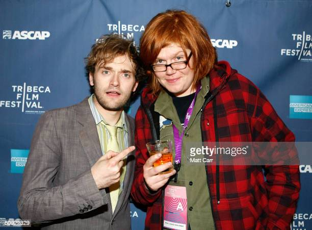 Musicians Chris Thile and Brett Dennen pose during the Tribeca ASCAP Music Lounge at the 2008 Tribeca Film Festival on April 29 2008 in New York City