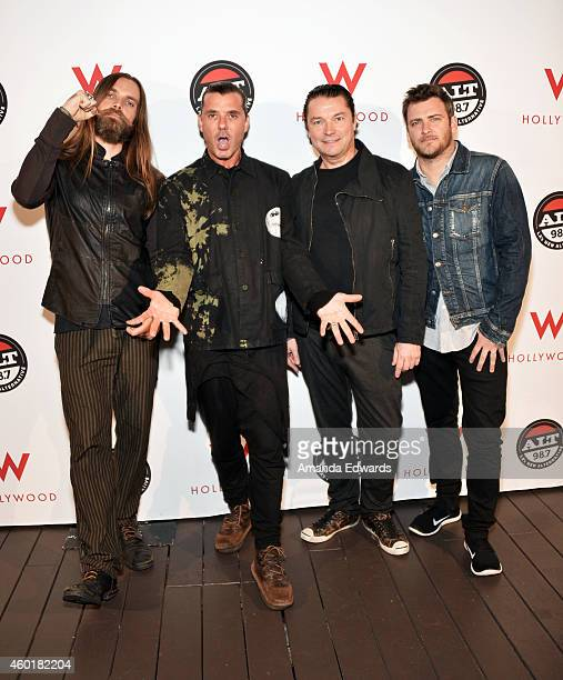 Musicians Chris Traynor Gavin Rossdale Robin Goodridge and Corey Britz of the band Bush pose before performing at Alt 987's annual 'Altimate Roof Top...