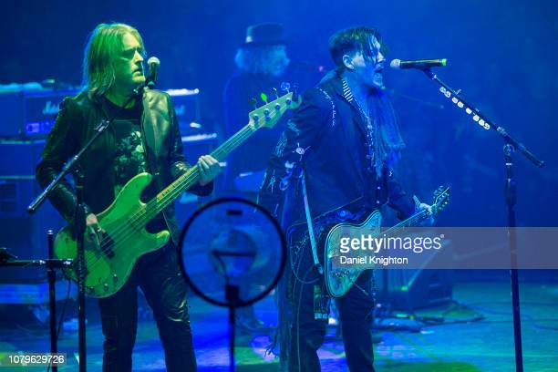 Musicians Chris Wyse and Johnny Depp of Hollywood Vampires perform on stage at Celebrity Theatre on December 08 2018 in Phoenix Arizona