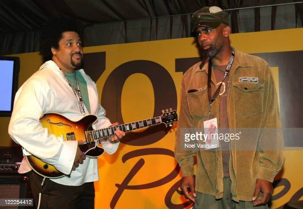 Musicians Christopher Dowd and Norwood Fisher of Fishbone perform onstage during the Musical Performance during the 2010 Los Angeles Film Festival at...