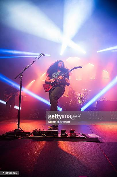 Musicians Claudio Sanchez and Josh Eppard of Coheed & Cambria attend Coheed & Cambria in concert at The Theater at Madison Square Garden on March 4,...