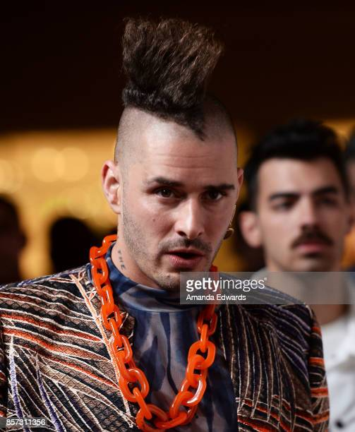 Musicians Cole Whittle and Joe Jonas arrive at the grand opening of Westfield Century City at Westfield Century City on October 3 2017 in Century...