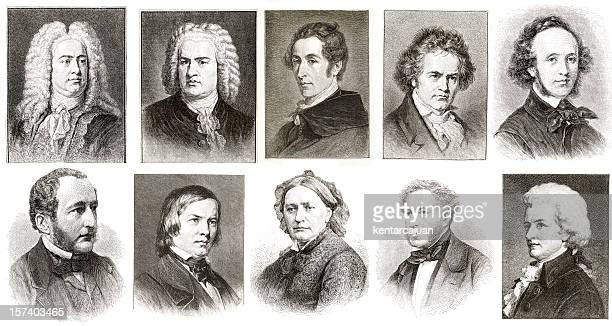 musicians collection - beethoven stock pictures, royalty-free photos & images