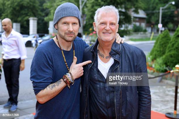 Musicians Corey Hart and Alan Frew attend Canada's Walk Of Fame Presents Music Under The City Stars at Casa Loma on August 2 2017 in Toronto Canada