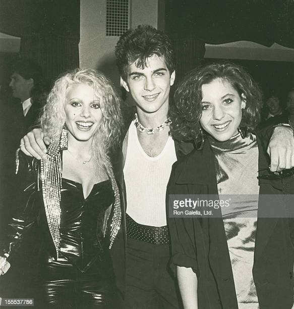 Musicians Dale Bozzio of Missing Persons Dweezil Zappa and Moon Unit Zappa attend Second Annual American Video Awards on April 5 1984 at the Wilshire...
